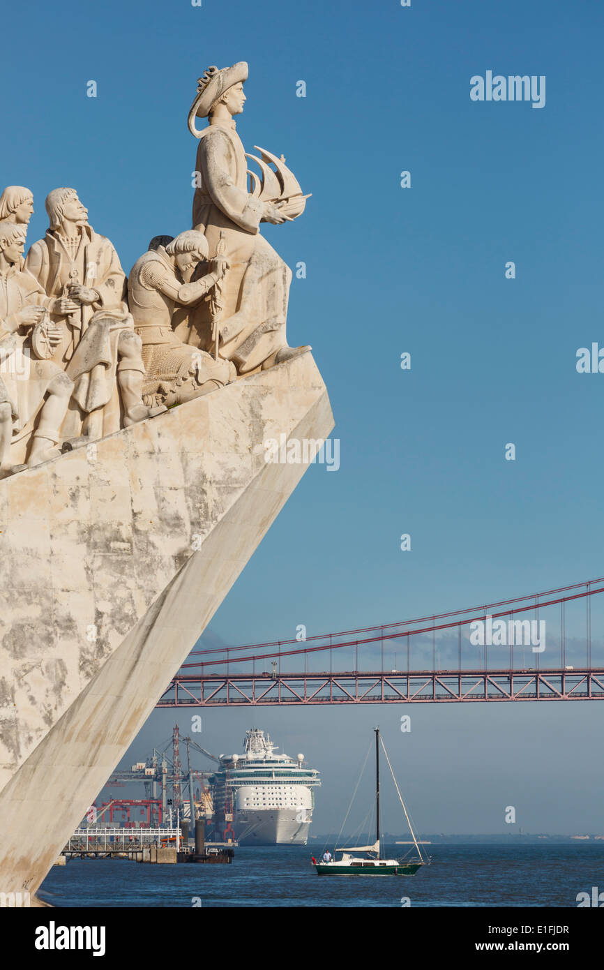 Lisbon, Portugal. Padrao dos Descobrimentos or Monument to the Discoveries, - Stock Image