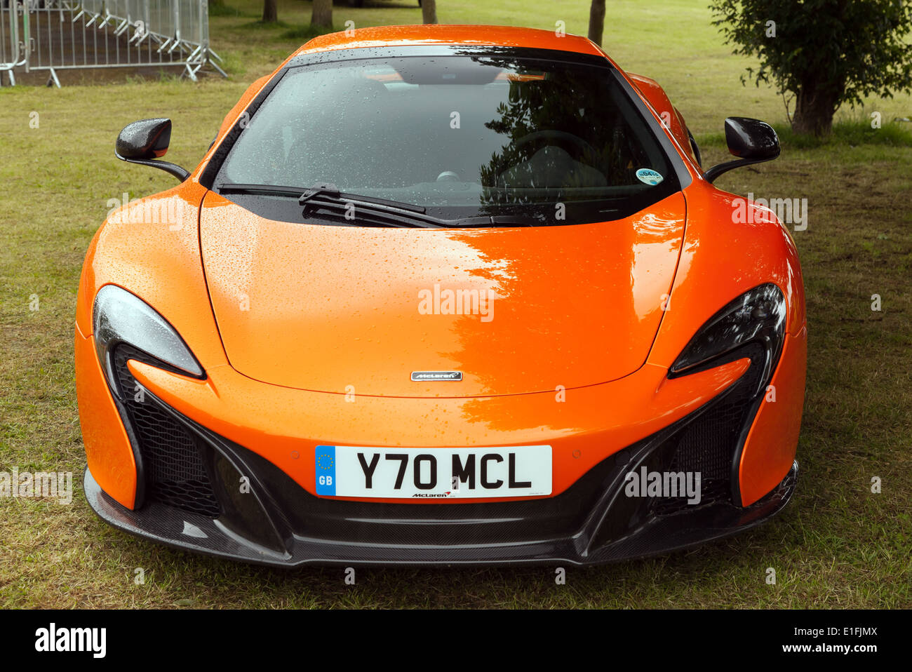 A McLaren 12C Spider Super Sports Car  on static display at motorsport at the palace 2014. - Stock Image