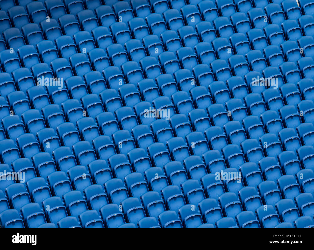 Football Stadium seating blue - Stock Image