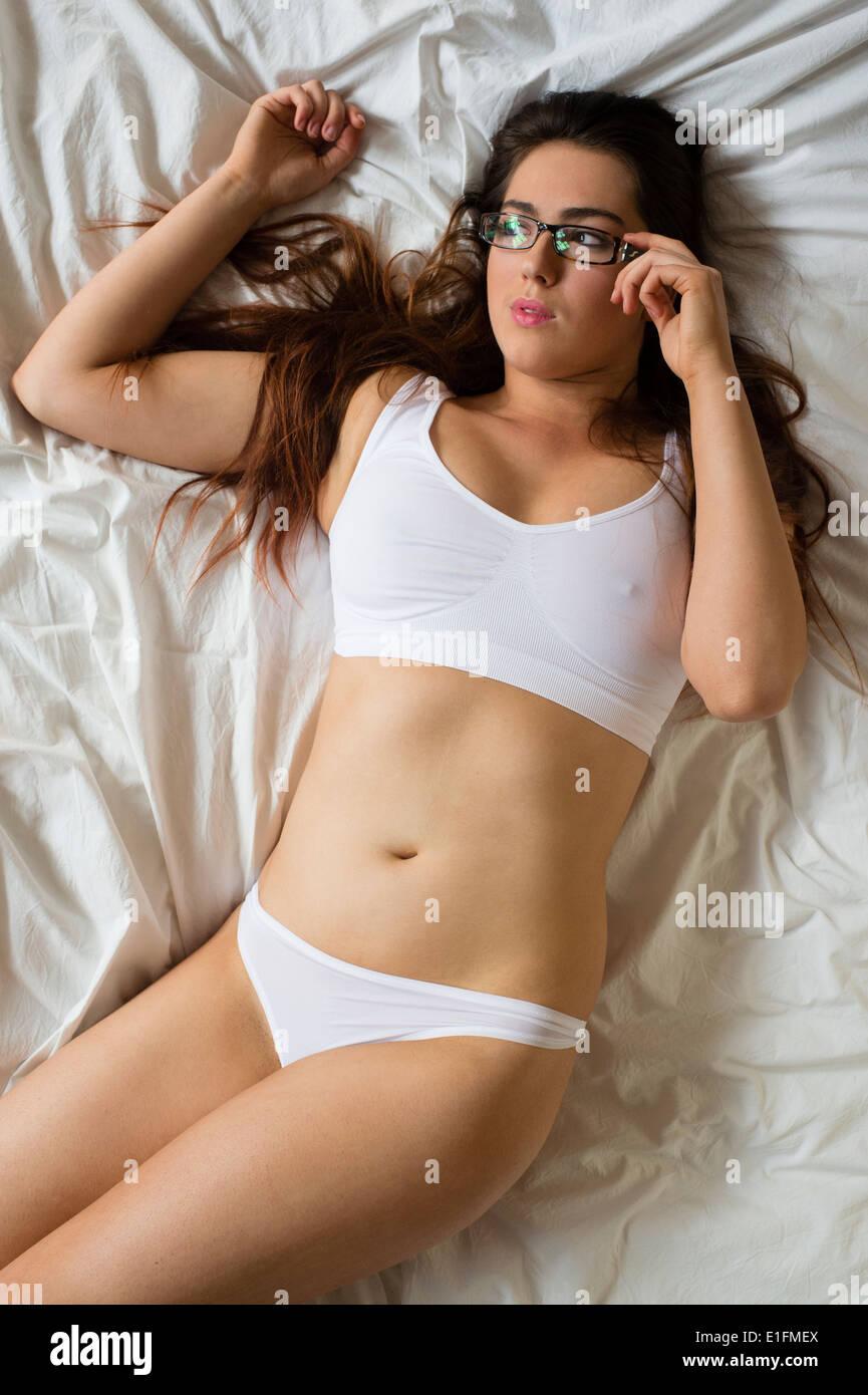 Naked white female body builder