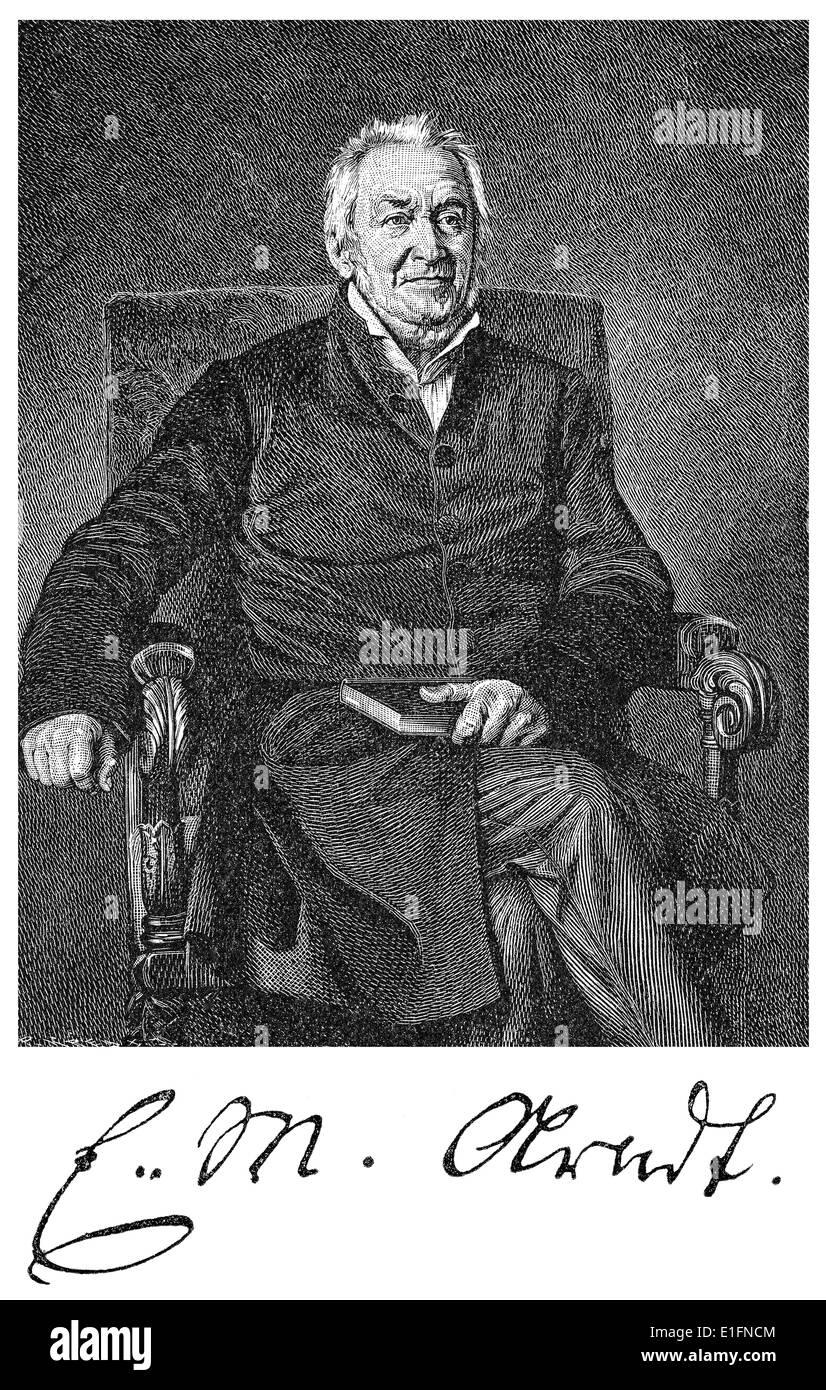 Ernst Moritz Arndt, 1769 - 1860, a German writer and deputy of the National Assembly in Frankfurt - Stock Image