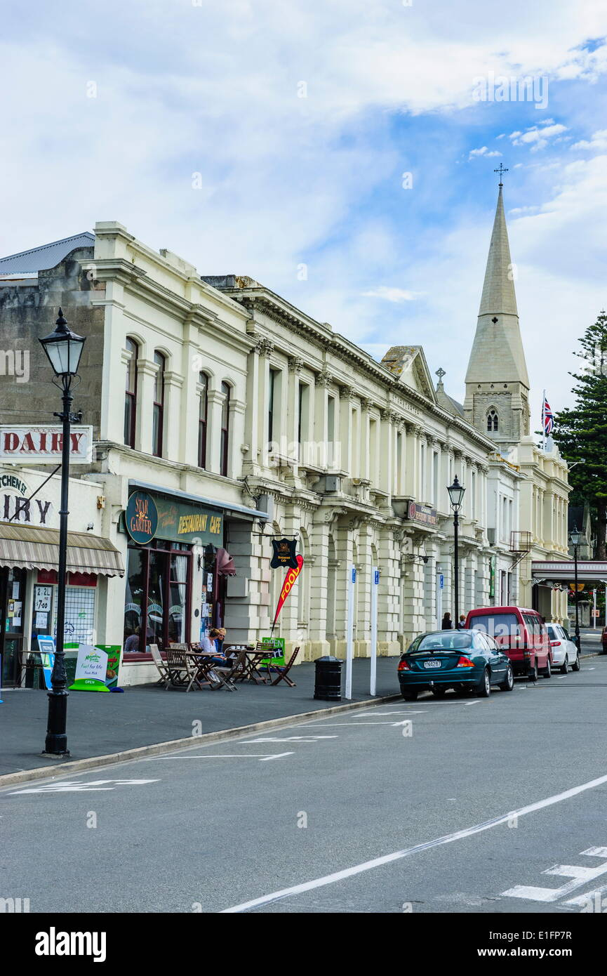 Victorian style buildings in the Harbour-Tyne historic precinct, Oamaru, Otago, South Island, New Zealand, Pacific - Stock Image