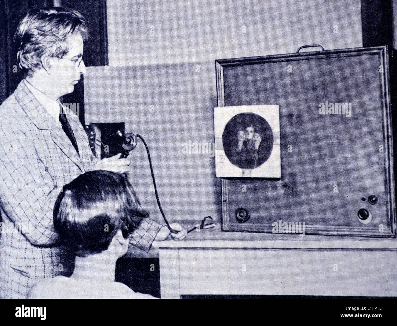 John Logie Baird the Scottish scientist, engineer, innovator and inventor of the world's first television in the 1920s - Stock Image