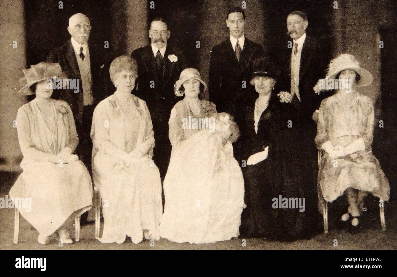 The Christening of Princess Elizabeth Alexander Mary - Stock Image