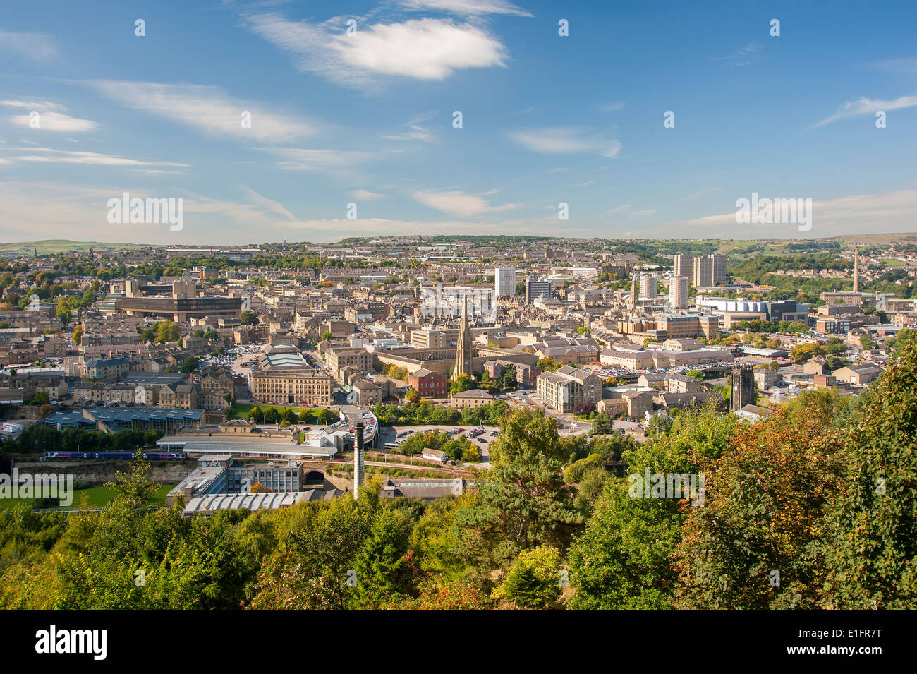 The Northern England town of Halifax in West Yorkshire - Stock Image