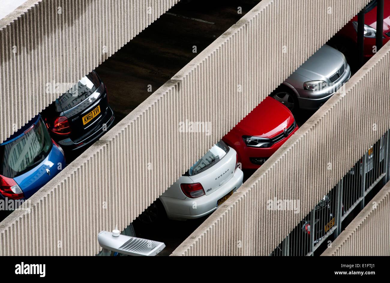 Multistorey car park, Birmingham city centre, UK - Stock Image