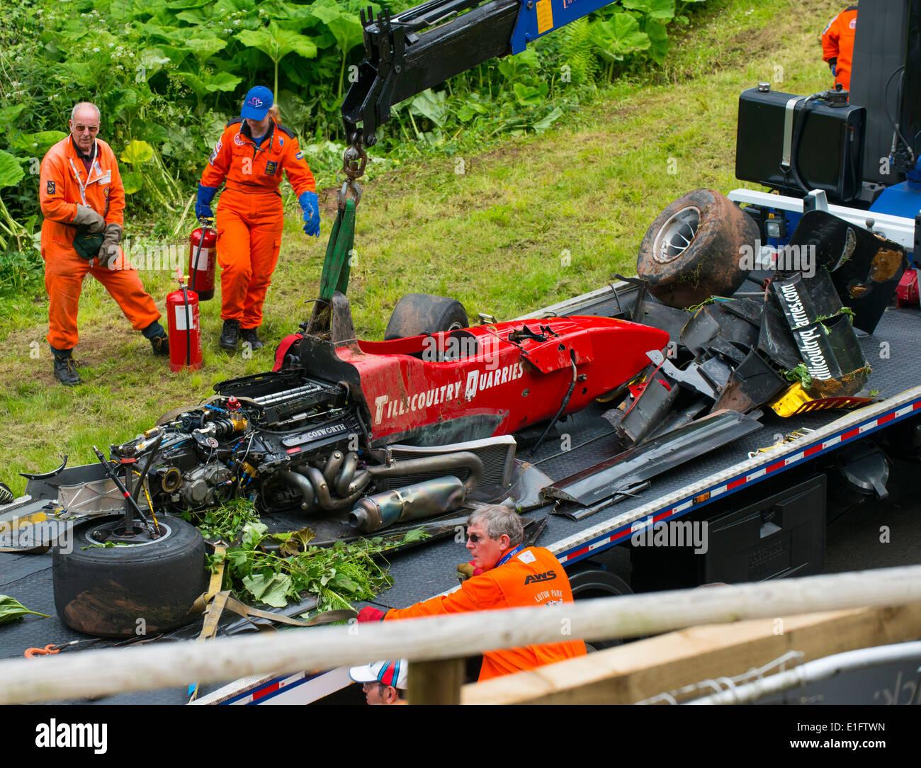 Crashed Racing Car At Shelsley Walsh Hillclimb
