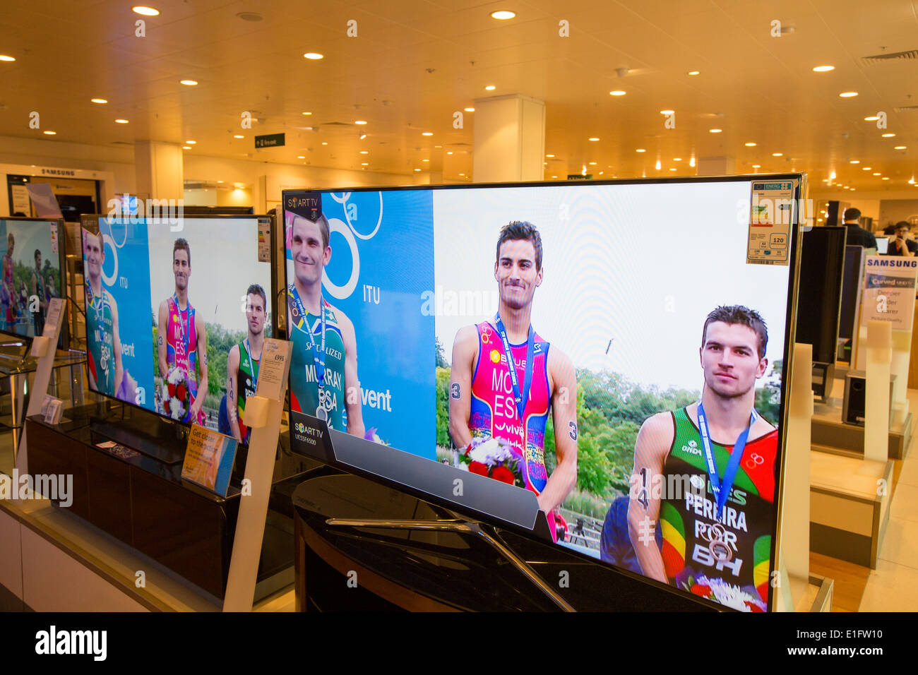 Large flat screen TV s for sale in the John Lewis store in Leicester ... f987c13d3b2a