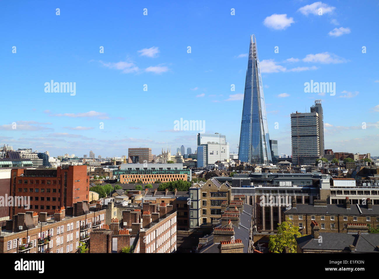 London Panoramic View with Shard in the background - Stock Image