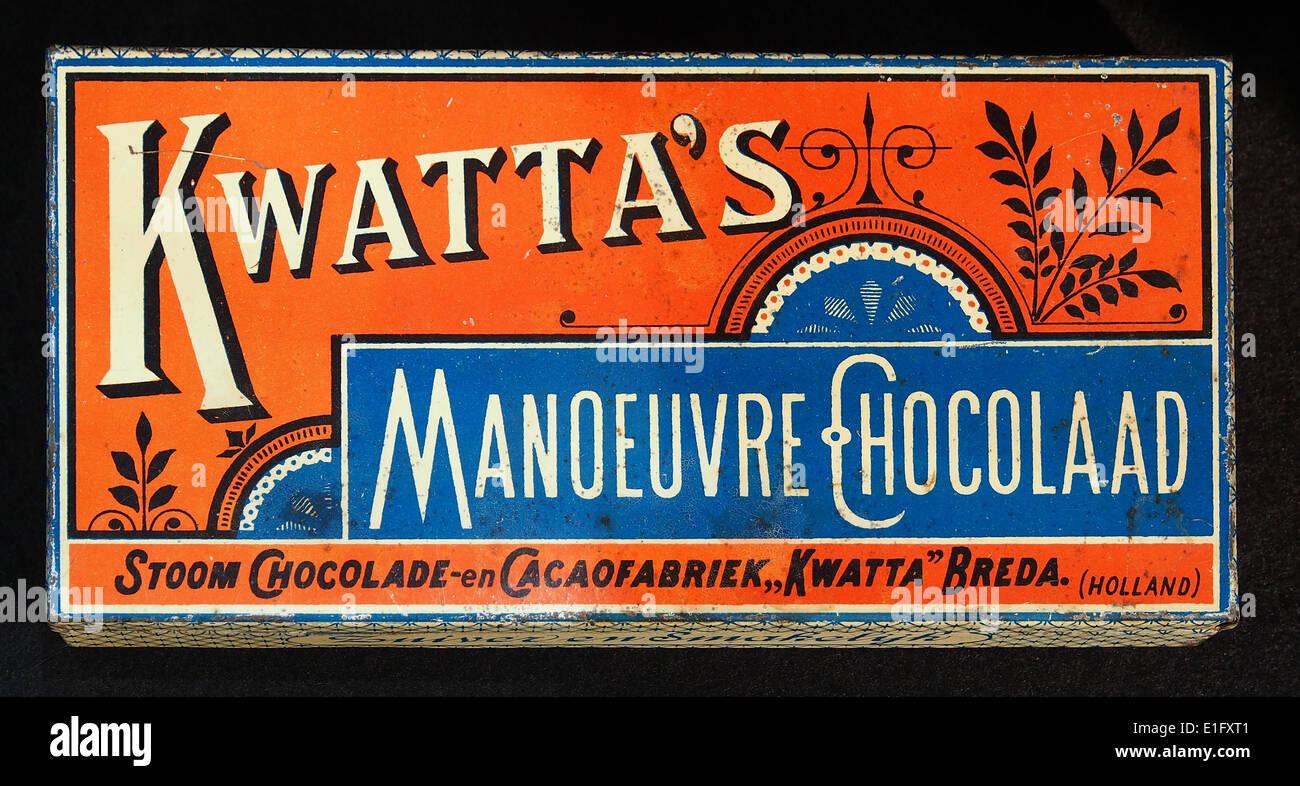 Kwattas Manoeuvre Chocolaad blik, foto1 - Stock Image