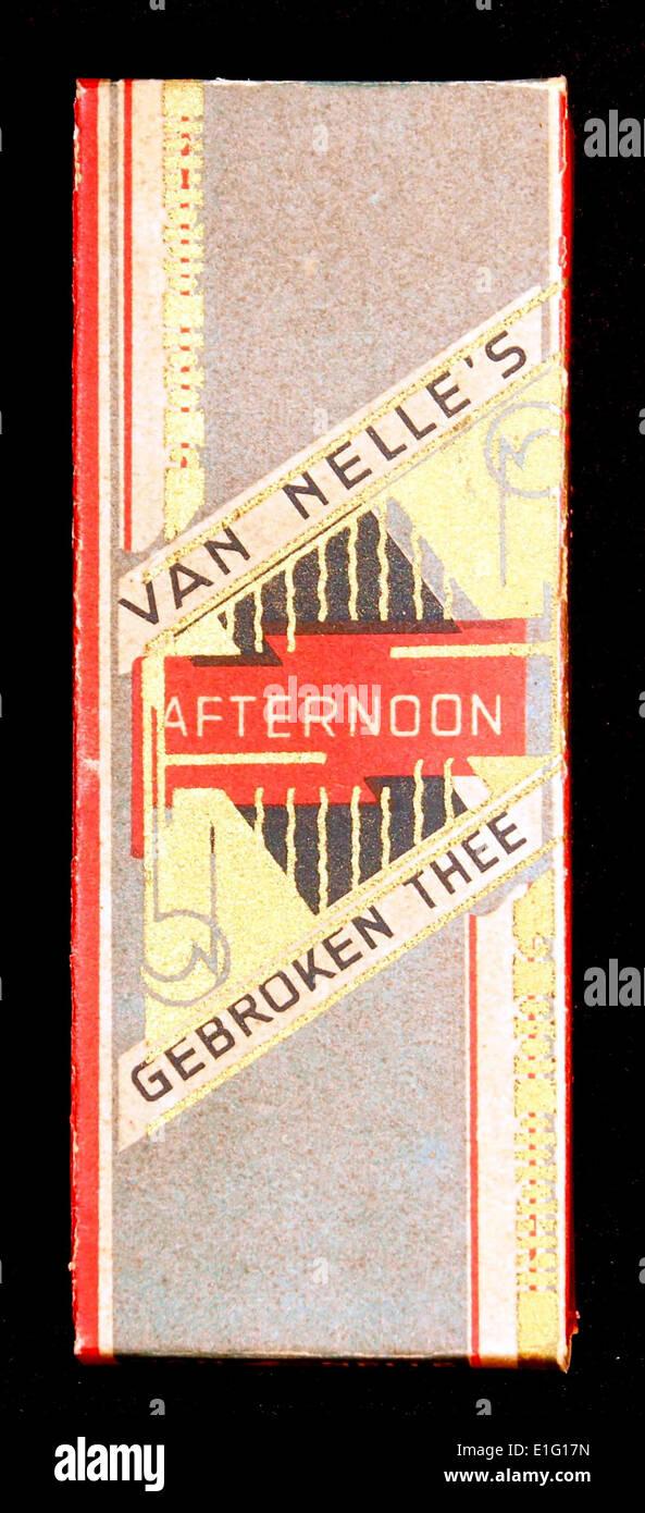 Van Nelles Afternoon Gebroken Thee reclame verpakking, foto1 - Stock Image