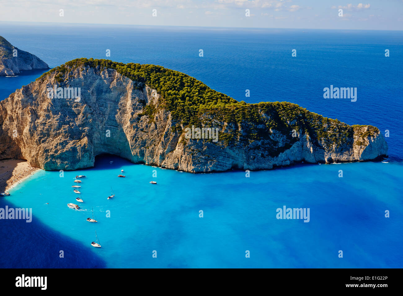 Greece, Ionian island, Zante island, Shipwreck beach - Stock Image