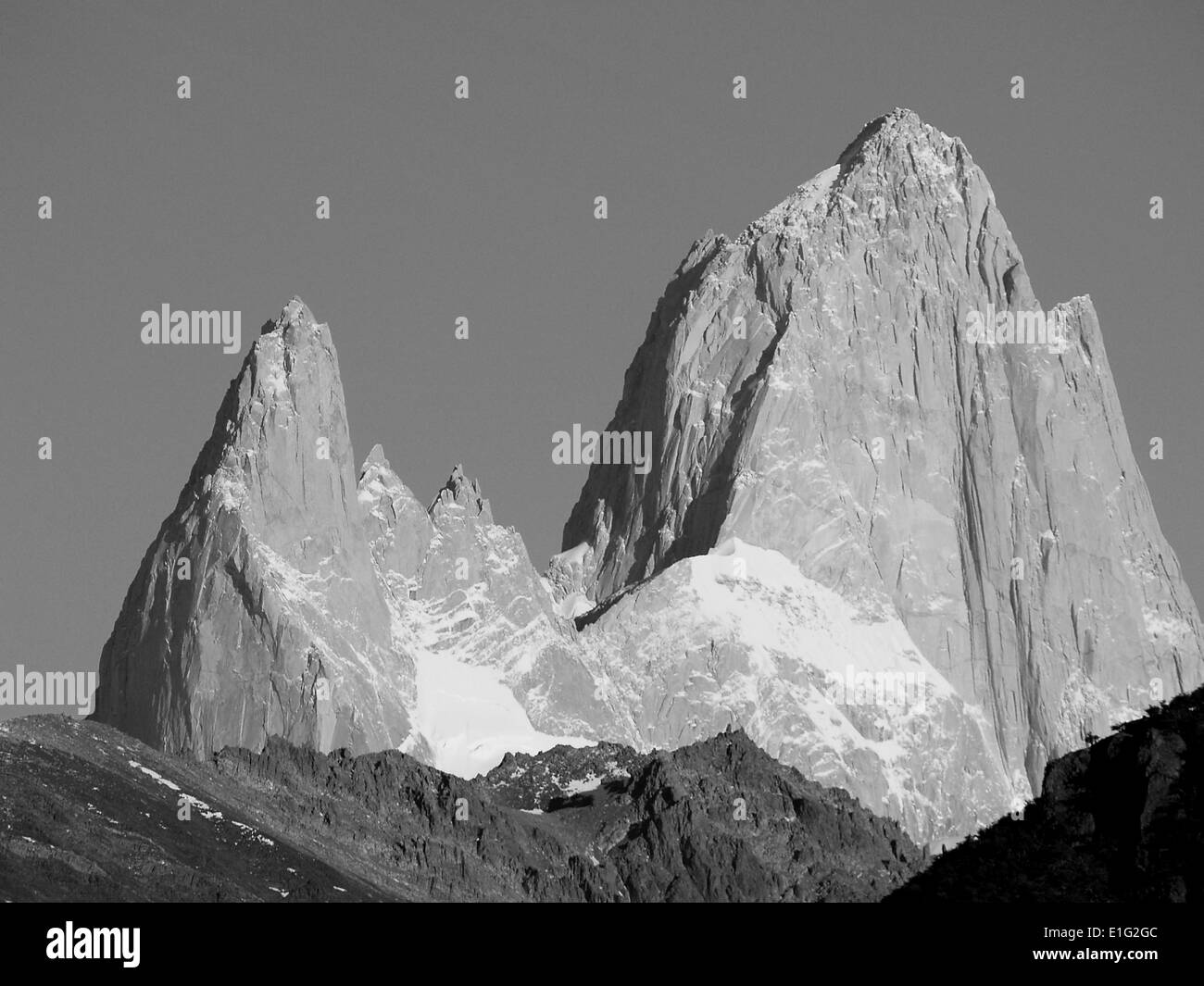 The Fitzroy Massif,Andes Mountains,Argentina - Stock Image