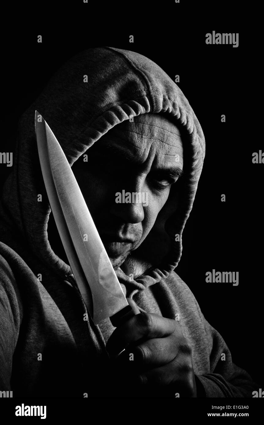 Violent and dangerous thug - Stock Image