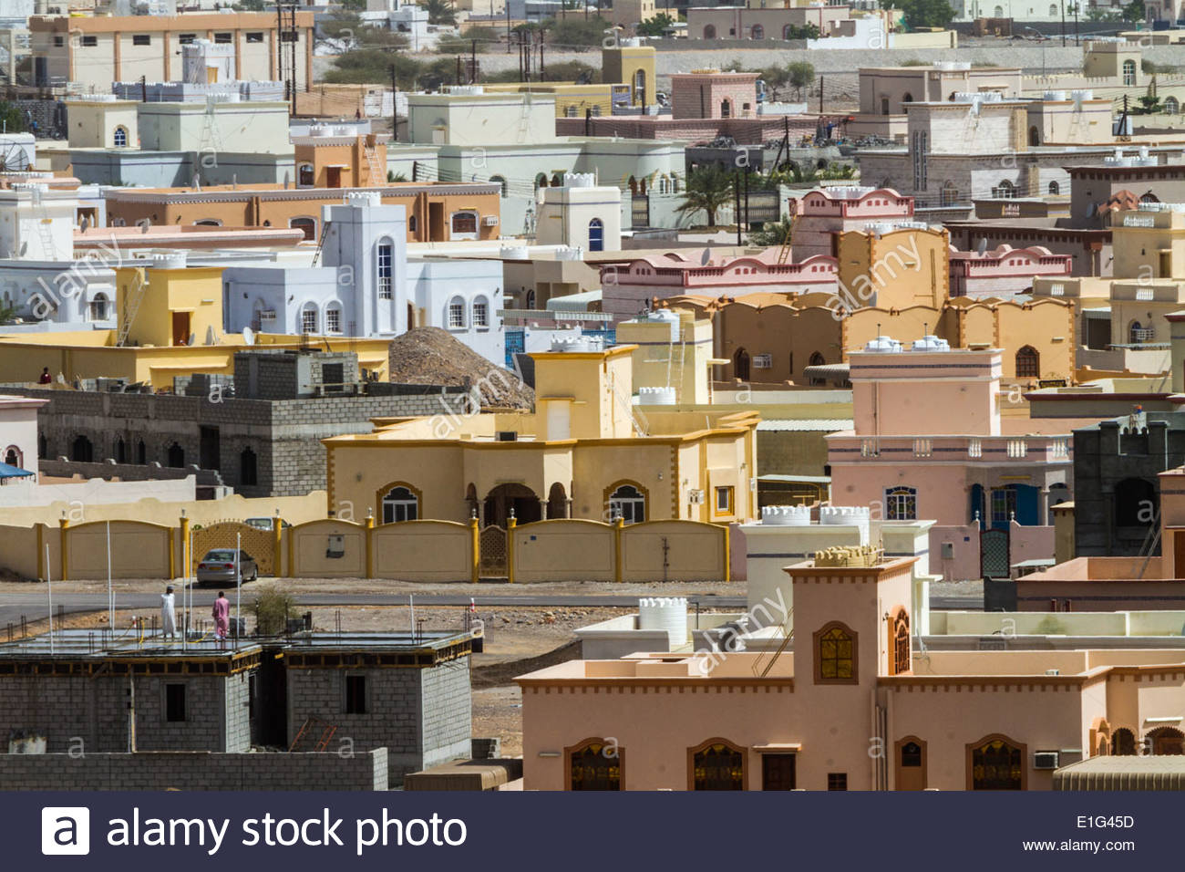 View of town houses - Oman - Stock Image