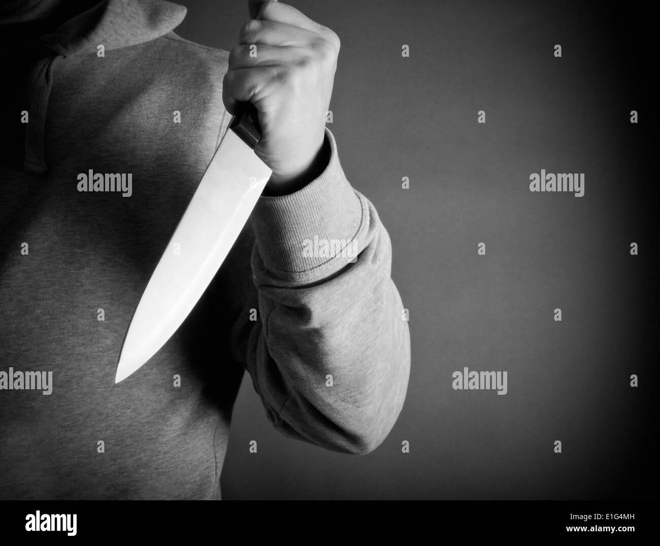 Knife crime - Stock Image