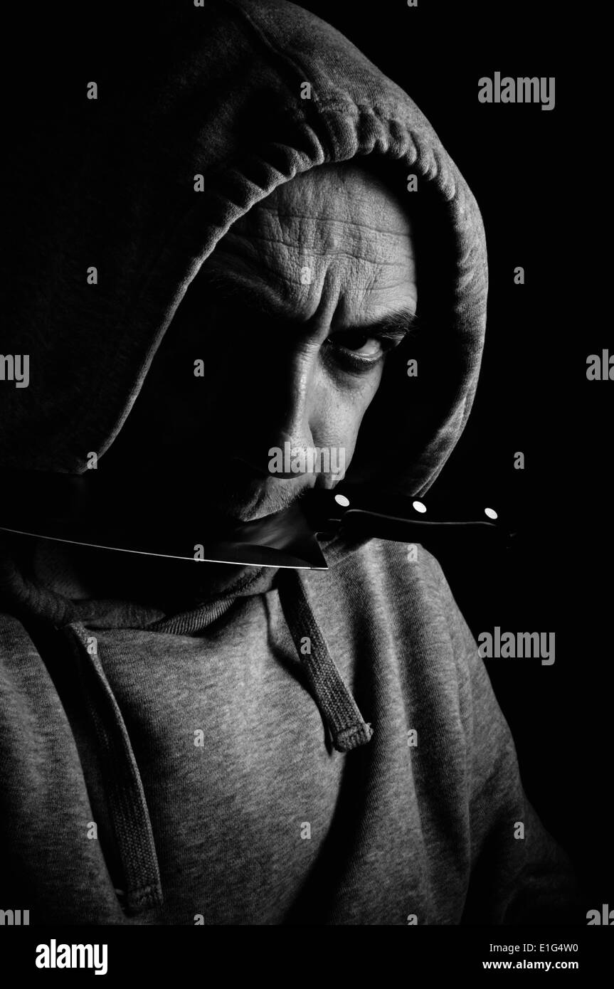 violence and gangs Stock Photo