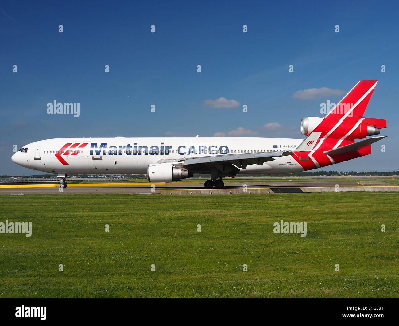 PH-MCR Martinair Holland McDonnell Douglas MD-11CF - cn 48617 at Schiphol (AMS - EHAM), The Netherlands, 16may2014, pic-2 - Stock Image