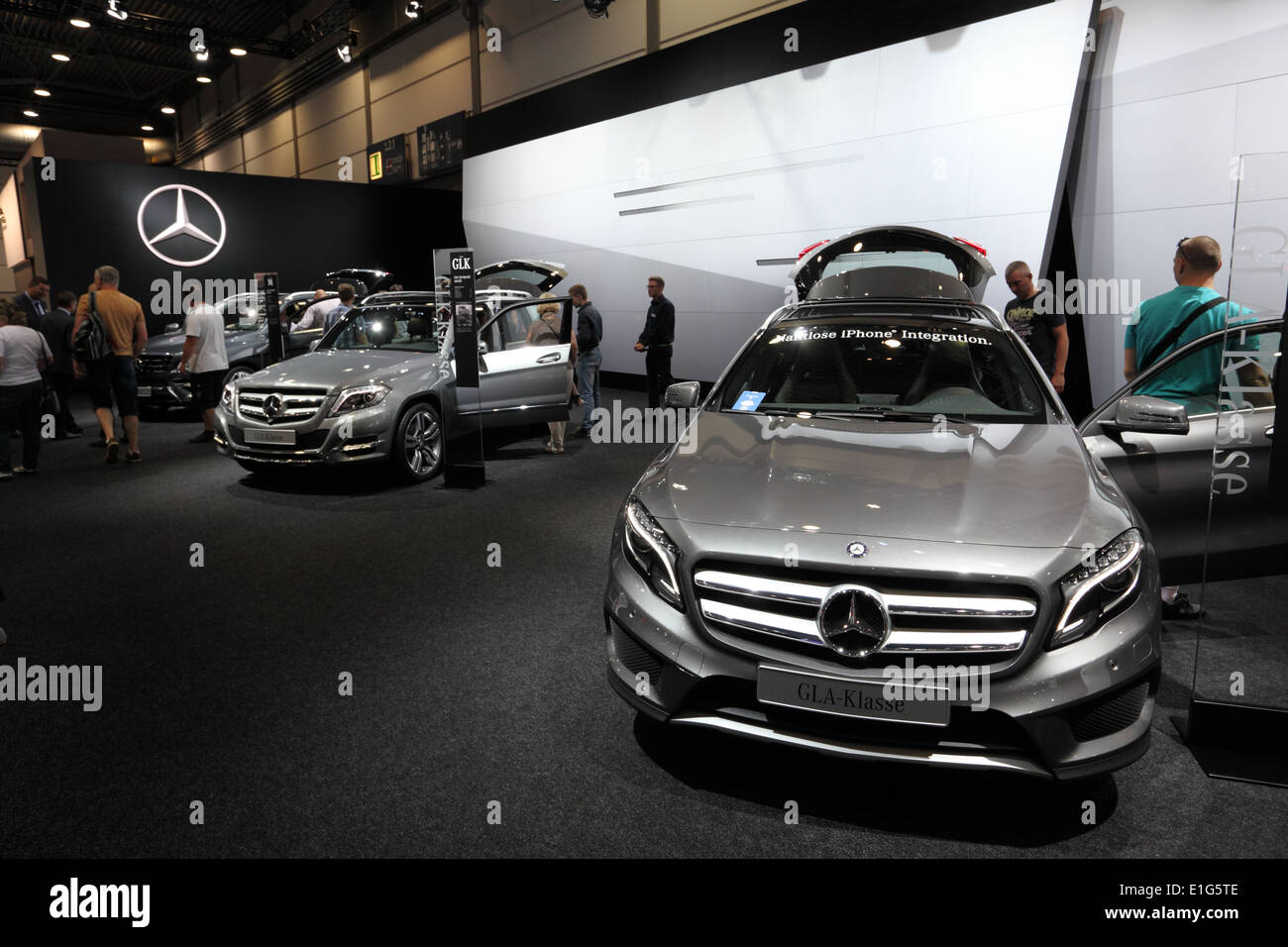 New Mercedes Benz GLA-Class at the AMI - Auto Mobile International Trade Fair on June 1st, 2014 in Leipzig, Saxony, Germany - Stock Image