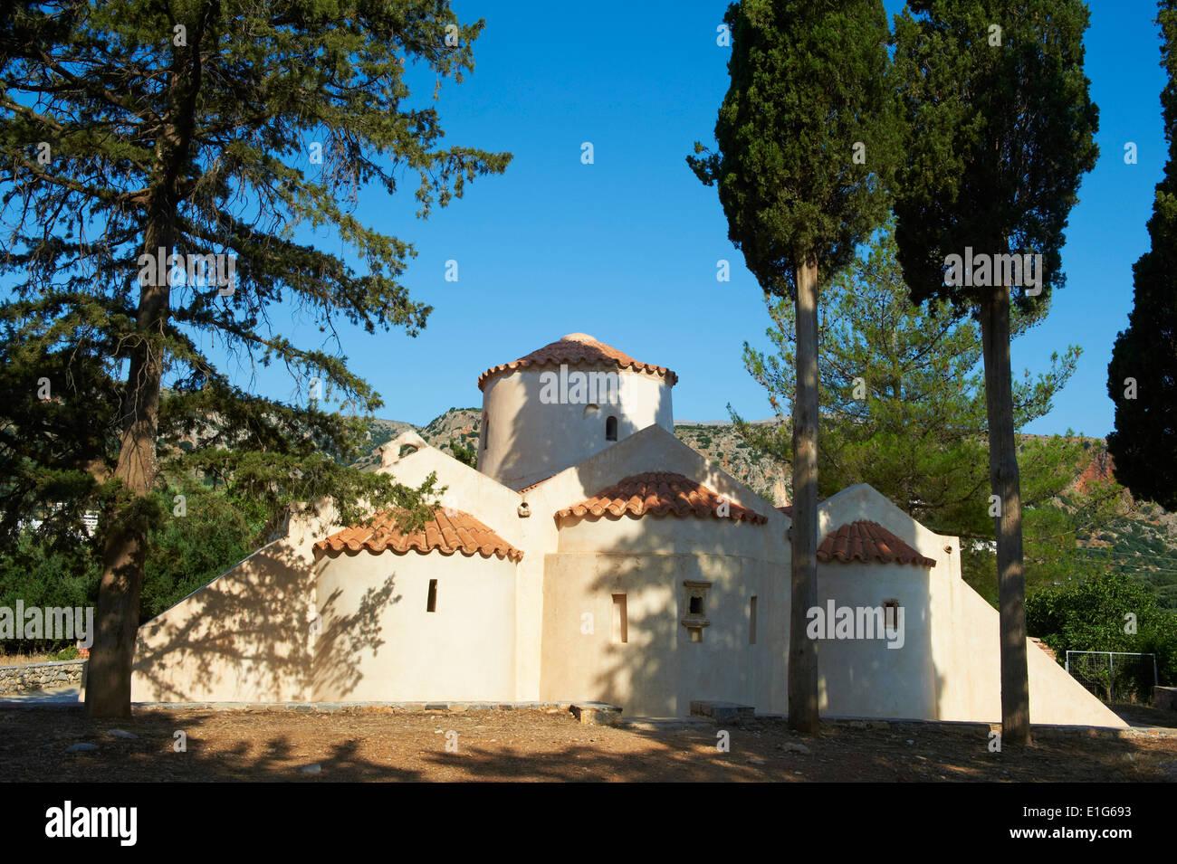 Greece, Crete island, Panagia Kera church at Krista near Aghios Nikolaos - Stock Image