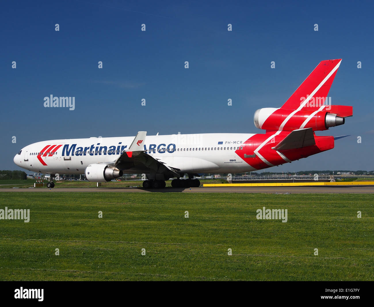 PH-MCR Martinair Holland McDonnell Douglas MD-11CF - cn 48617 at Schiphol (AMS - EHAM), The Netherlands, 16may2014, pic-3 - Stock Image