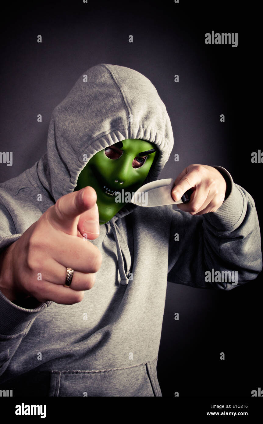 Armed robbery - Stock Image