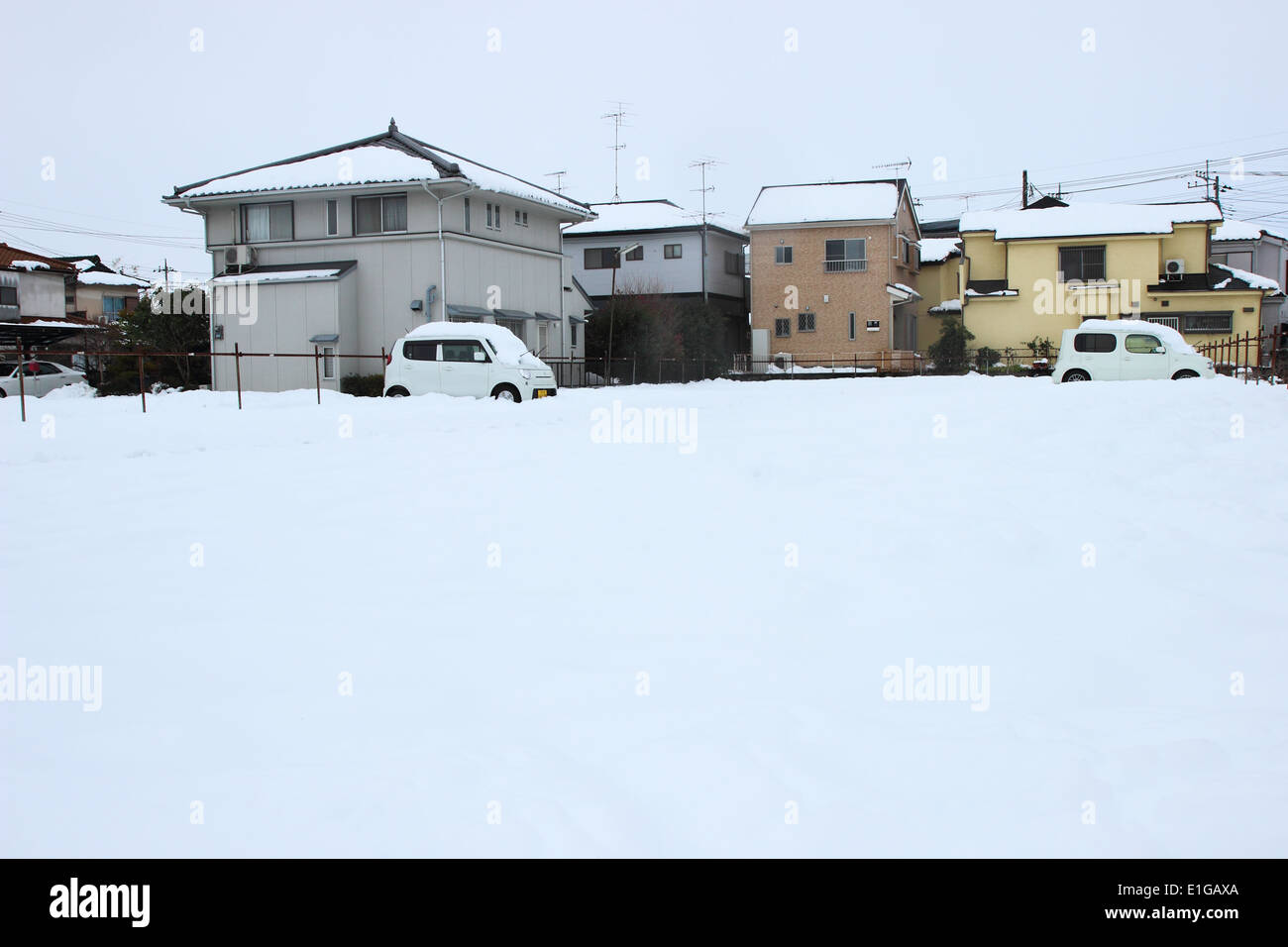 Japan- Feb14 : The heaviest snow in decades in Tokyo and other areas of Japan , On FEB 14, 2014 in Japan - Stock Image