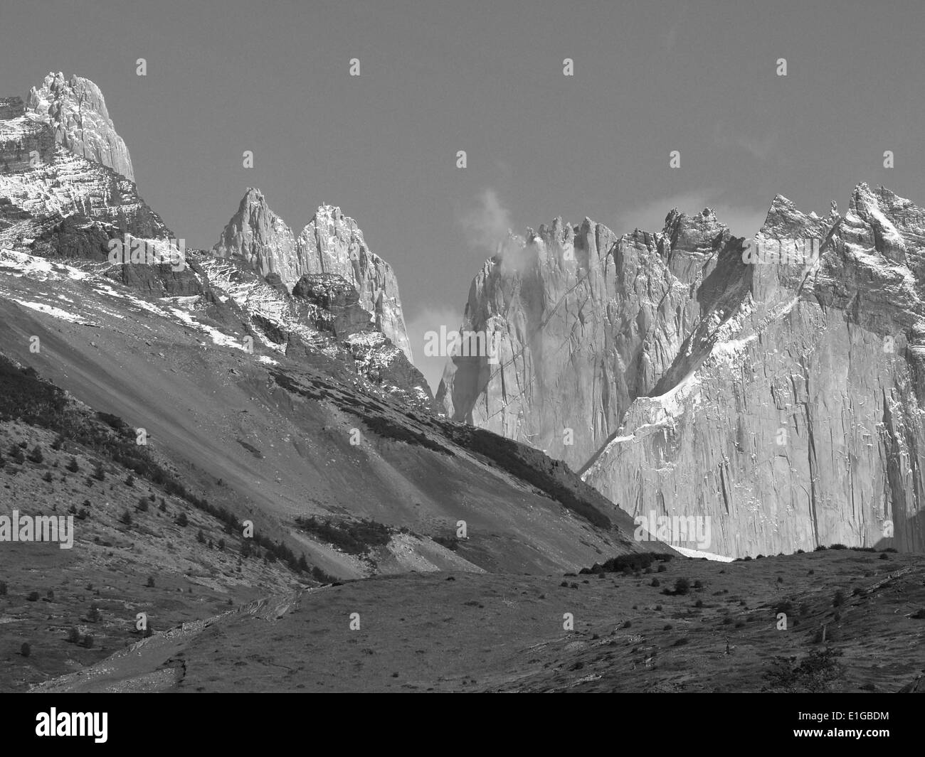 Torres del Paine,Andes Mountains,Chile - Stock Image
