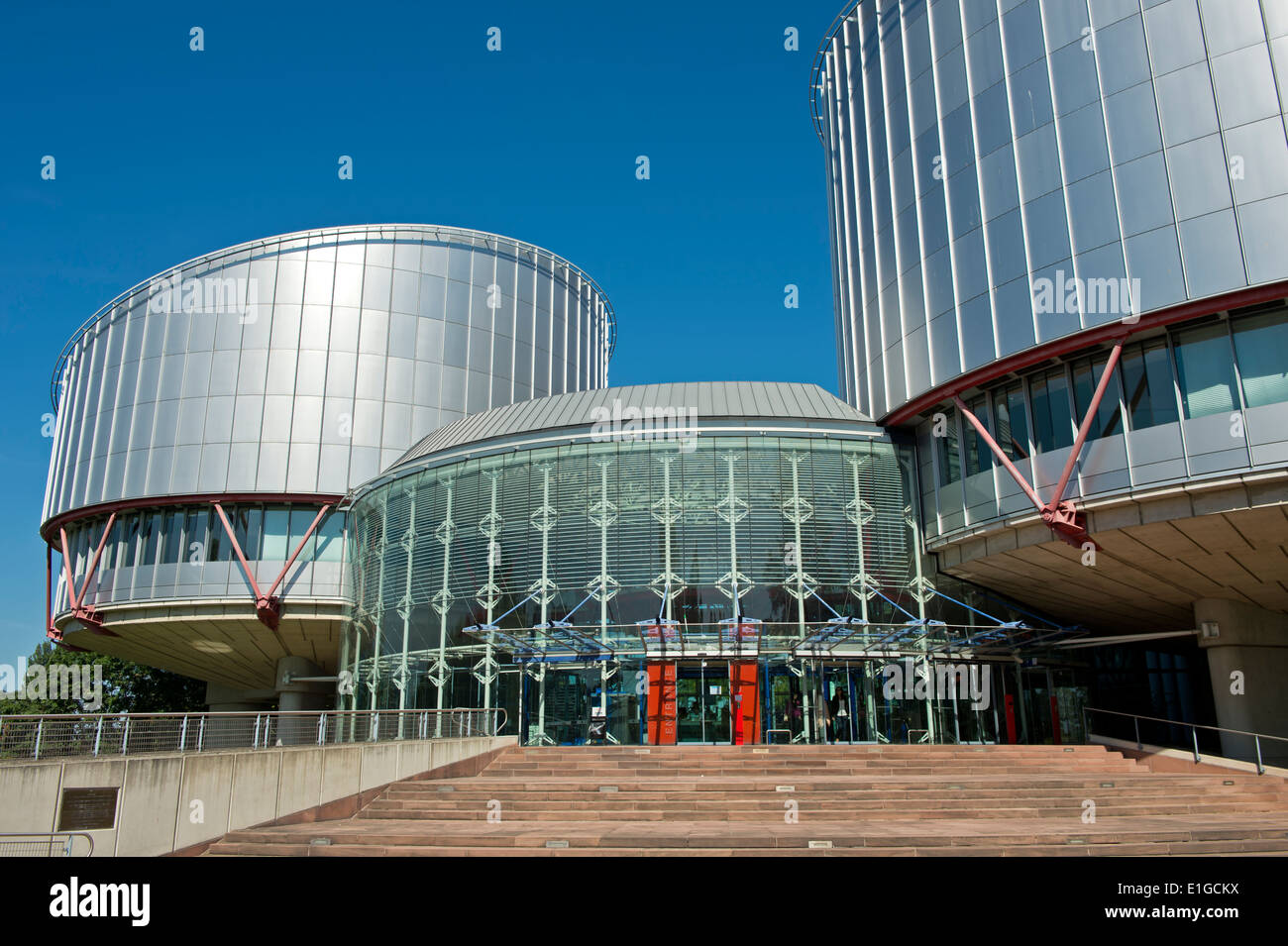 European Court of Human Rights building (ECtHR), Strasbourg, Alsace, France - Stock Image