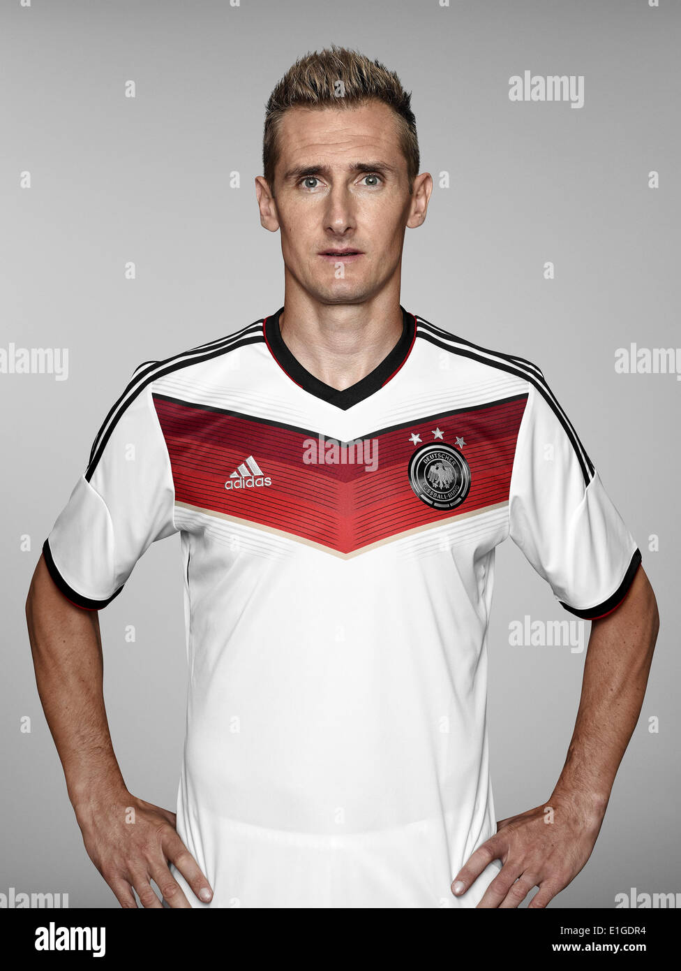 FIFA World Cup 2014 - photocall Team Germany, 24 May 2014 in Passeier, Italy: Miroslav Klose. Photo credit: Bongarts/Getty Images/German Football Association/dpa (editorial use only) - Stock Image