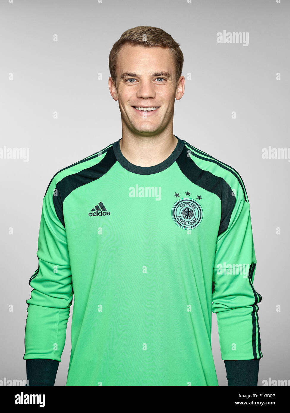 FIFA World Cup 2014 - photocall Team Germany, 24 May 2014 in Passeier, Italy: Manuel Neuer. Photo credit: Bongarts/Getty Images/German Football Association/dpa (editorial use only) - Stock Image