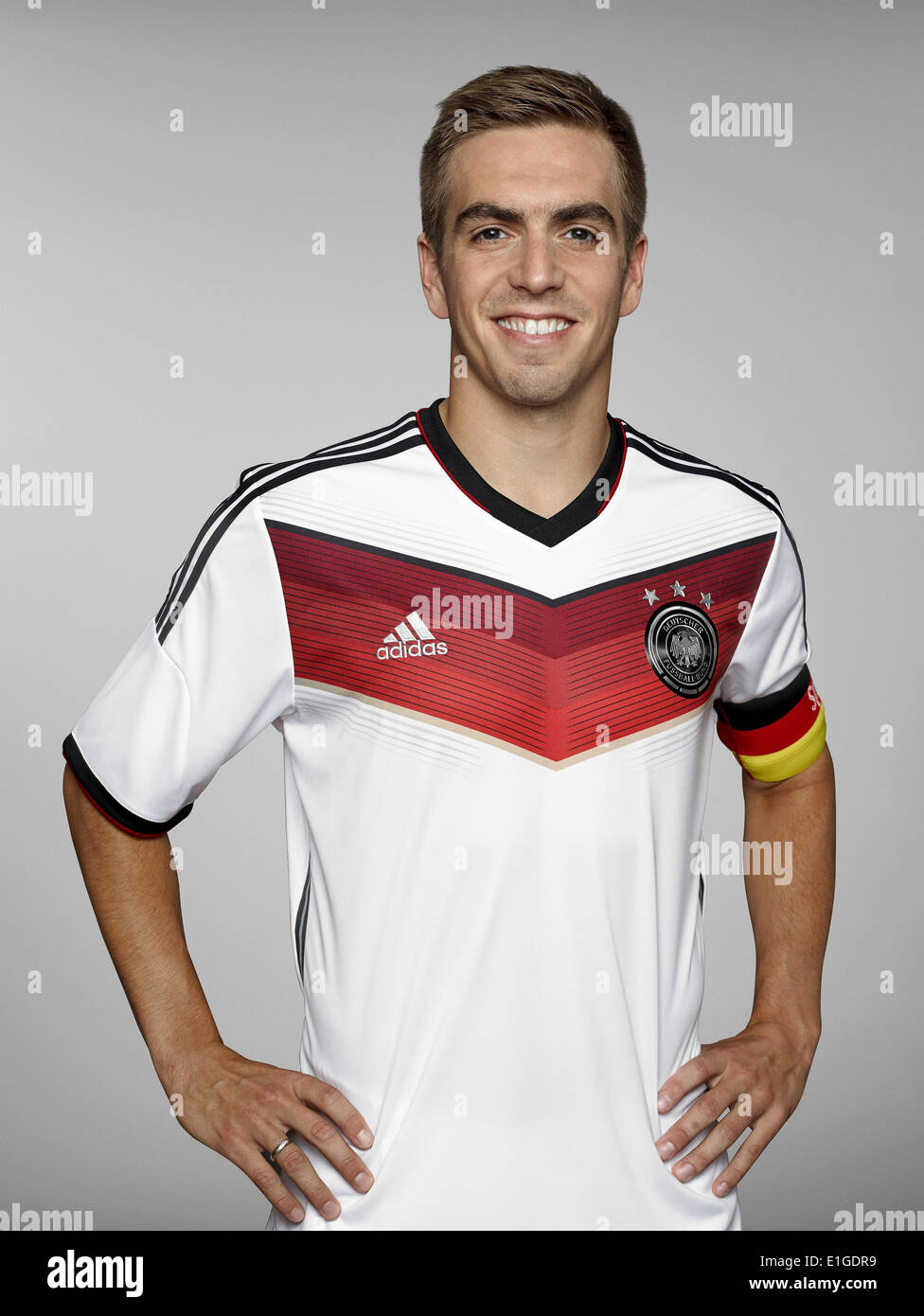 FIFA World Cup 2014 - photocall Team Germany, 24 May 2014 in Passeier, Italy: Philipp Lahm. Photo credit: Bongarts/Getty Images/German Football Association/dpa (editorial use only) - Stock Image