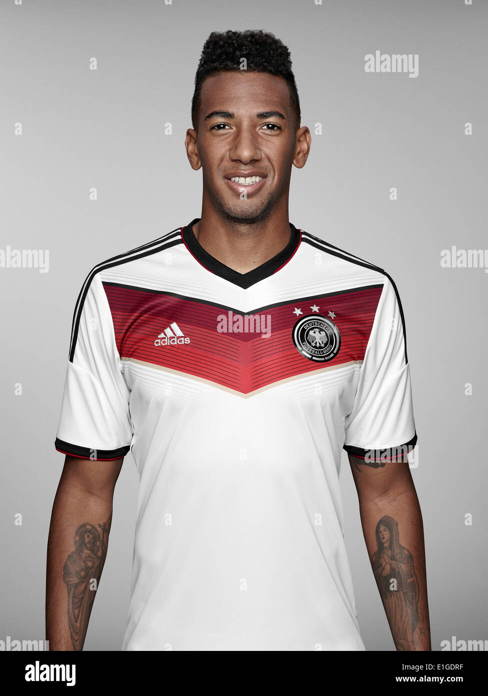 FIFA World Cup 2014 - photocall Team Germany, 24 May 2014 in Passeier, Italy: Jerome Boateng. Photo credit: Bongarts/Getty Images/German Football Association/dpa (editorial use only) - Stock Image