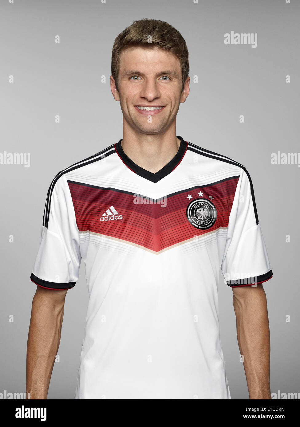 FIFA World Cup 2014 - photocall Team Germany, 24 May 2014 in Passeier, Italy: Thomas Mueller. Photo credit: Bongarts/Getty Images/German Football Association/dpa (editorial use only) - Stock Image
