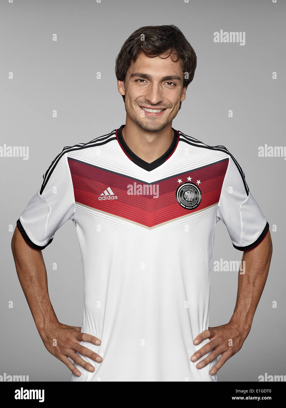 FIFA World Cup 2014 - photocall Team Germany, 24 May 2014 in Passeier, Italy: Mats Hummels. Photo credit: Bongarts/Getty Images/German Football Association/dpa (editorial use only) - Stock Image