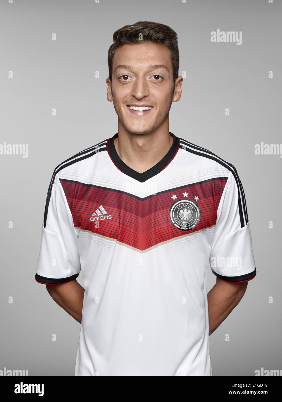 FIFA World Cup 2014 - photocall Team Germany, 24 May 2014 in Passeier, Italy: Mesut Oezil. Photo credit: Bongarts/Getty Images/German Football Association/dpa (editorial use only) - Stock Image