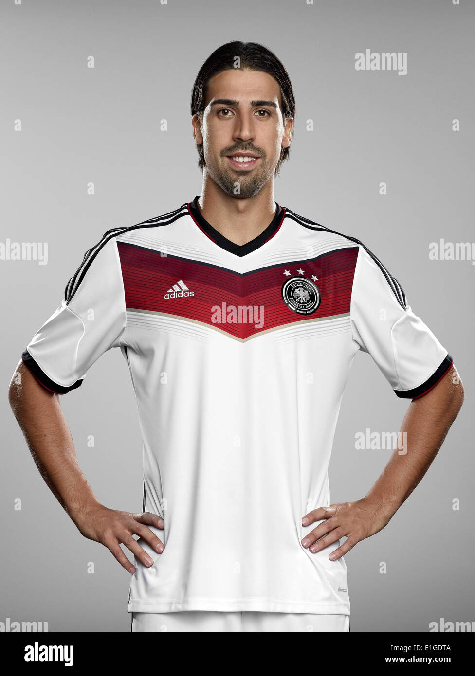 FIFA World Cup 2014 - photocall Team Germany, 24 May 2014 in Passeier, Italy: Sami Khedira. Photo credit: Bongarts/Getty Images/German Football Association/dpa (editorial use only) - Stock Image
