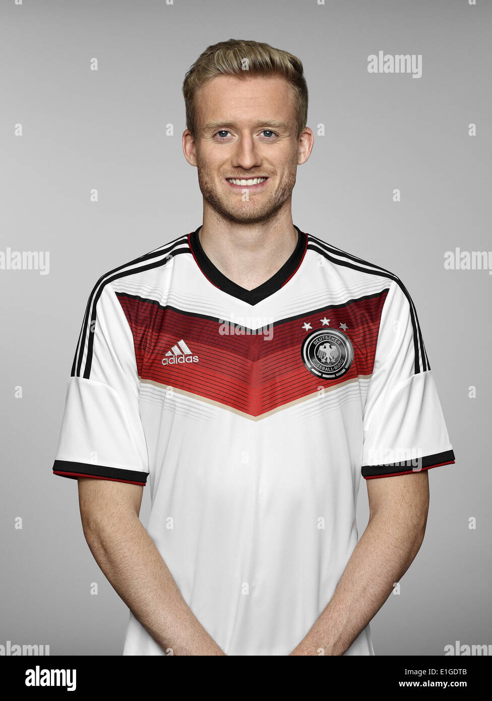 FIFA World Cup 2014 - photocall Team Germany, 24 May 2014 in Passeier, Italy: Andre Schuerrle. Photo credit: Bongarts/Getty Images/German Football Association/dpa (editorial use only) - Stock Image