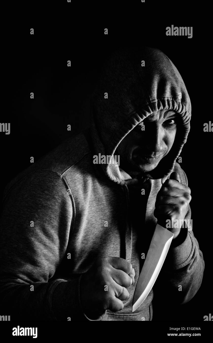 knife fighter - Stock Image