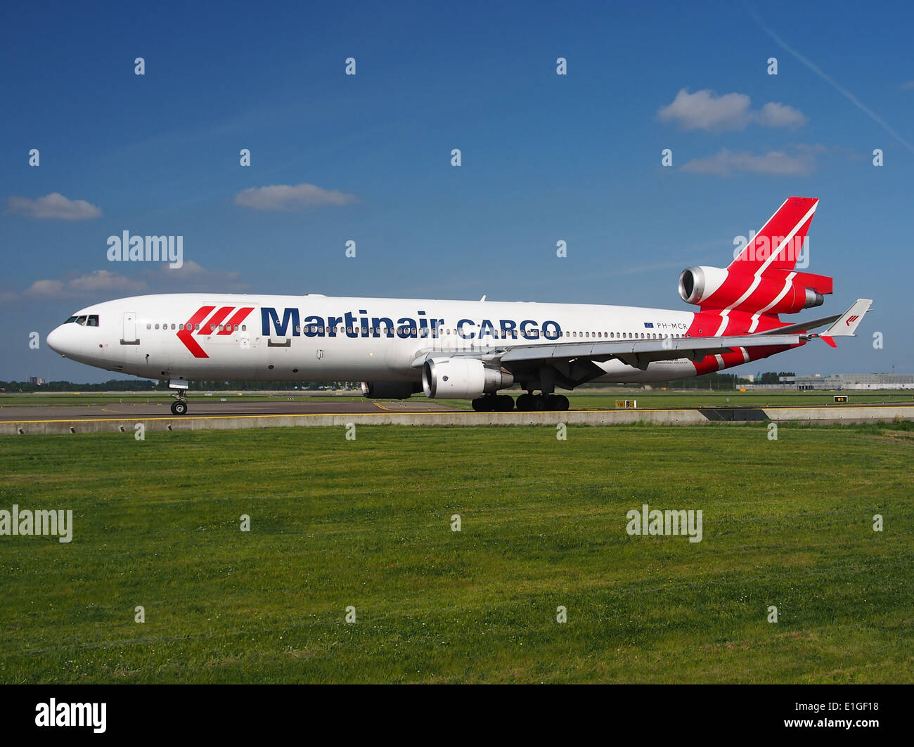 PH-MCR Martinair Holland McDonnell Douglas MD-11CF - cn 48617 at Schiphol (AMS - EHAM), The Netherlands, 16may2014, pic-1 - Stock Image