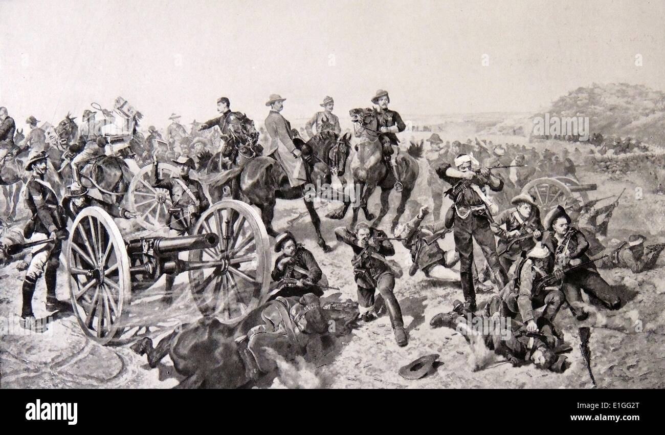 The Battle of Doornkop - Stock Image