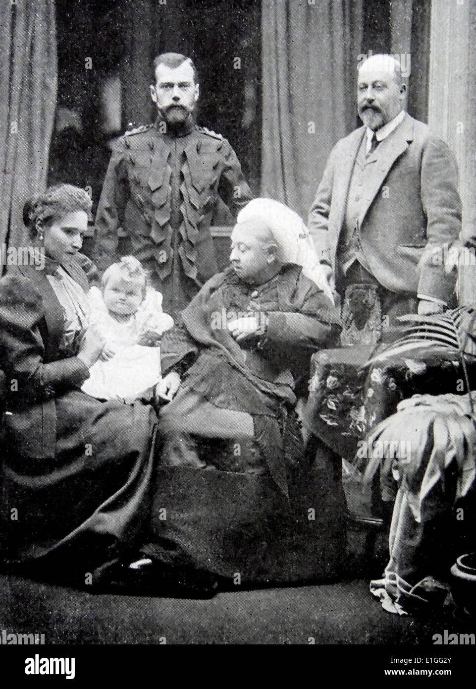 Queen Victoria and Tsar Nicholas II - Stock Image
