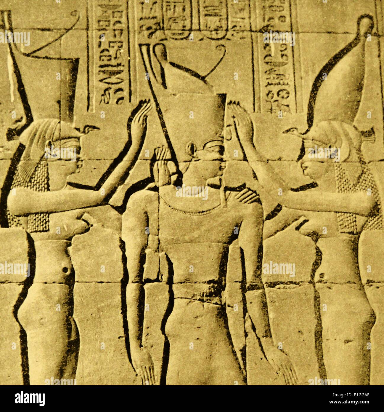 Deatil of the Coronation of Pharaoh Philaretes - Stock Image