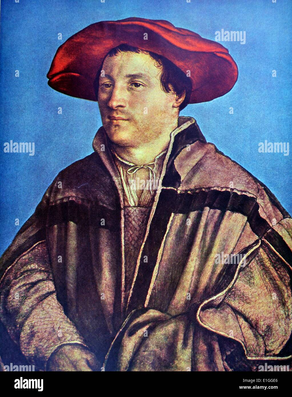 Hans Holbein the Younger: Self portrait, 1523-1524, 1523-1524 - Stock Image
