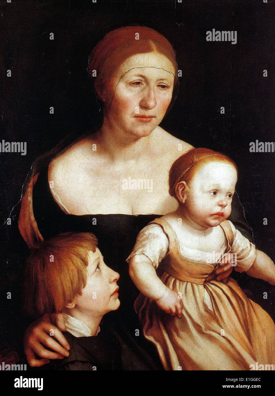 Hans Holbein the Younger (1498–1543) Charity (The Family of the Artist)c.1528 - Stock Image