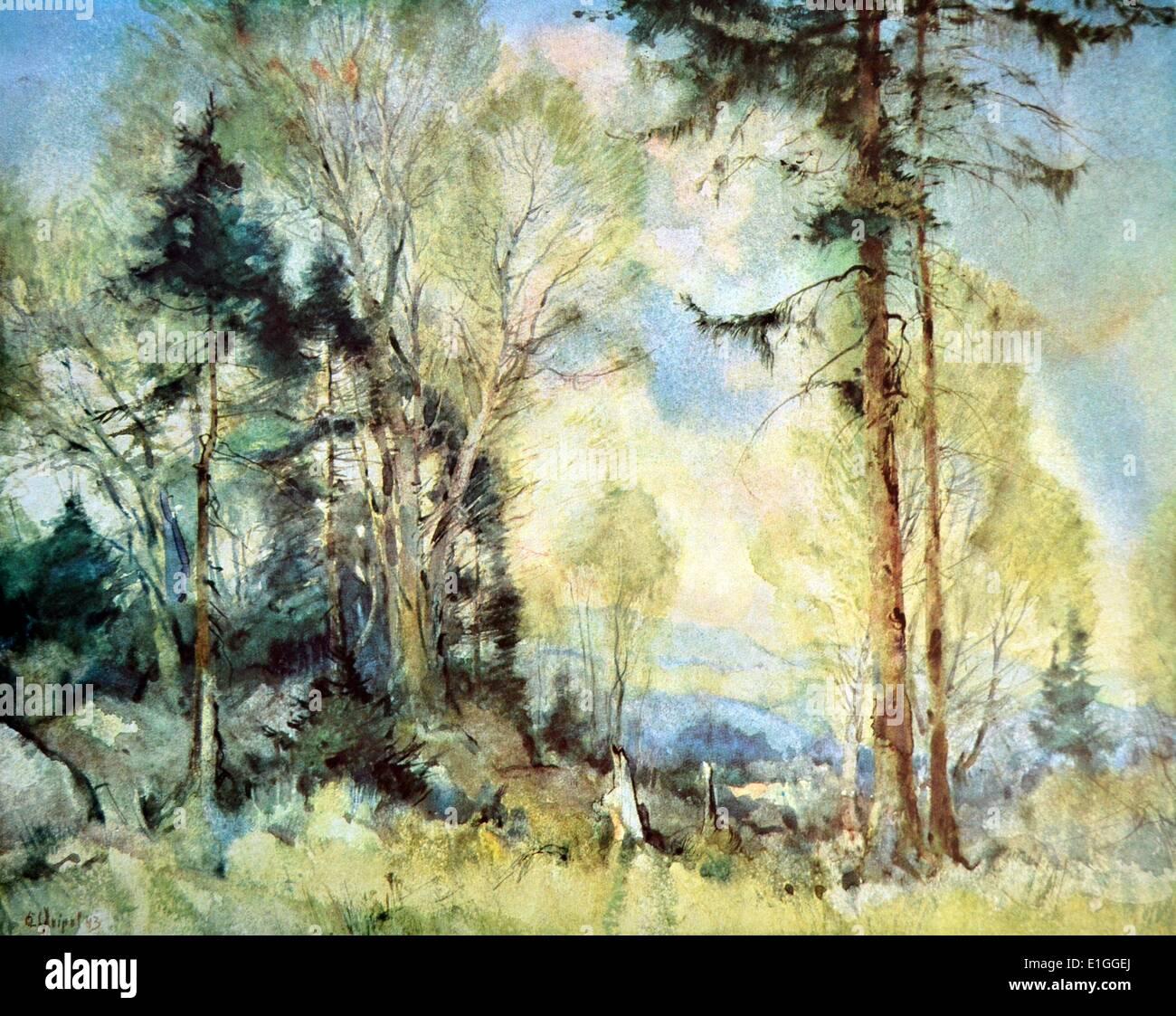 Waldstuck (Forest),  by Kurt Geipel, published in 'Die Kunst im deutschen Reich' (Art in the German Reich) was firstStock Photo