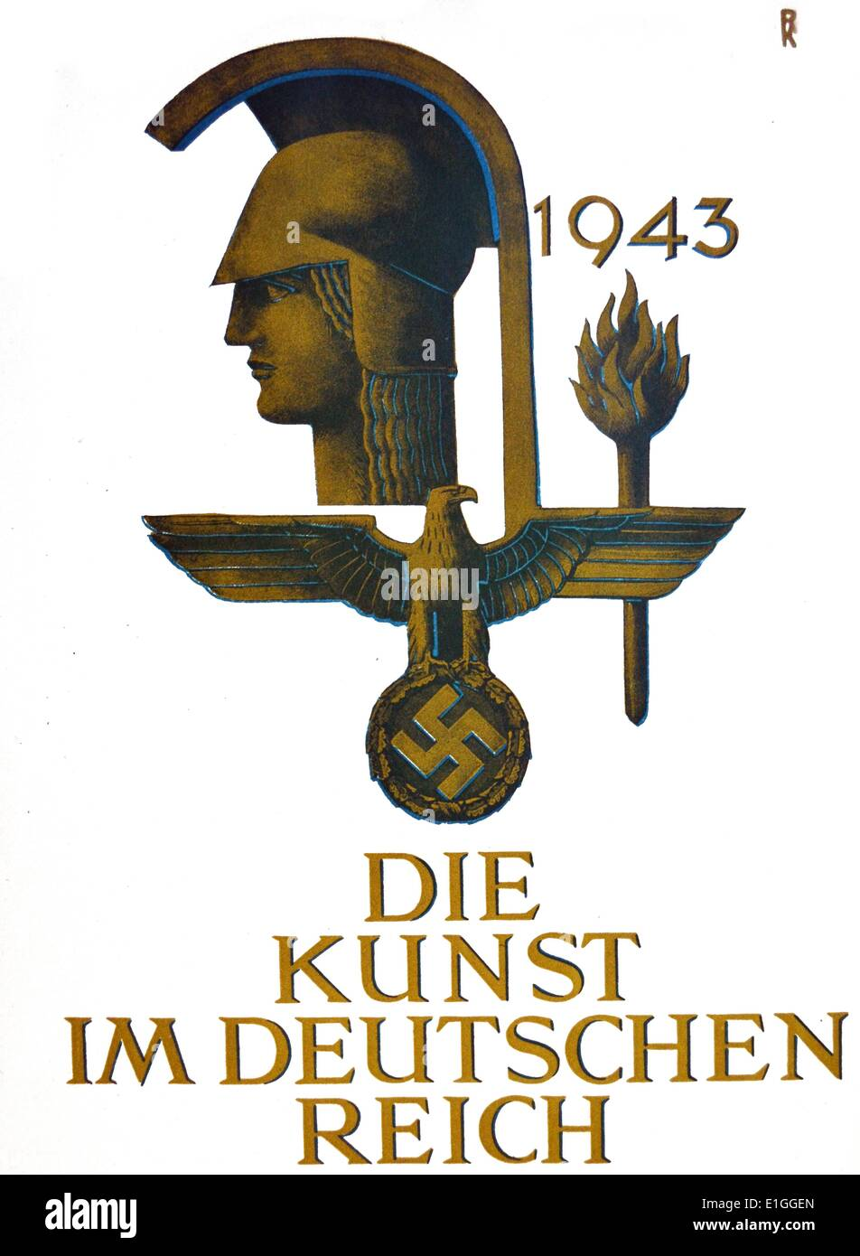 1943 Cover graphics of 'Die Kunst im deutschen Reich' (Art in the German Reich) was first published in January 1937 by - Stock Image