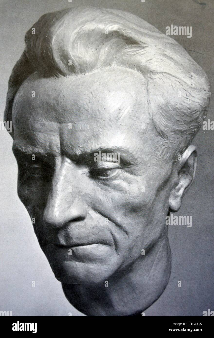 Bust of Peter Raabe by Lili Graf, Published in 'Die Kunst im deutschen Reich' (Art in the German Reich) was first published in - Stock Image