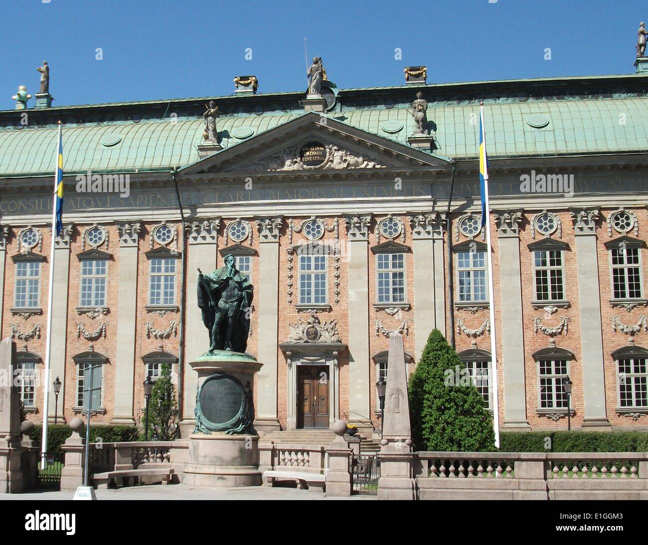 Neo-Classical, baroque architecture in Stockholm - Stock Image