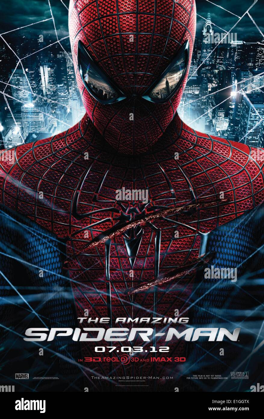 'The Amazing Spider-Man' action/drama film made in 2012 stars Andrew Garfield, Emma Stone and Rhys Ifans. - Stock Image